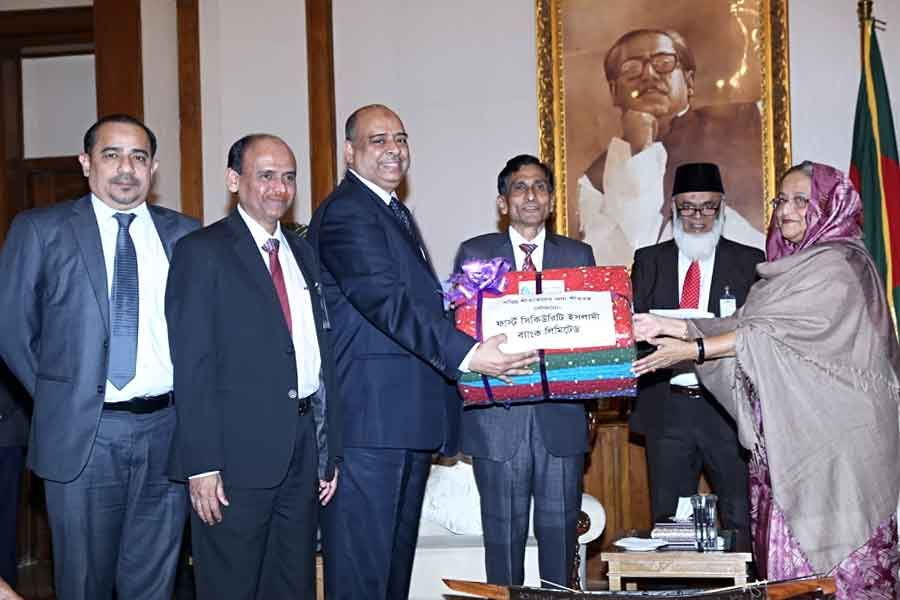 FSIBL Handed Over 50,000 Blankets to Prime Minister Relief Fund for Cold Heated People 2014