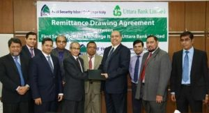 Agreement between FSIEI & Uttara Bank