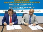 FSIBL Press Release_FSIBL Remittance Drawing Agreement with Brac Saajan Exchange Ltd, UK